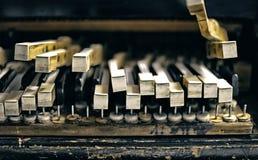 Grunge piano keyboard background. Old broken piano, keyboard grunge background Stock Image