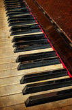 Grunge piano musical background Royalty Free Stock Photography