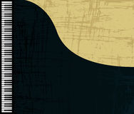 Grunge piano profile. Grunge grand piano profile, graphic illustration Royalty Free Stock Image
