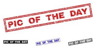 Grunge PIC dnia prostokąta Textured Watermarks ilustracji