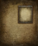 Grunge Picture Frame on Wall Stock Images