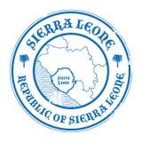 Grunge pieczątka z mapą Sierra Leone i imieniem royalty ilustracja