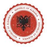 Grunge pieczątka z Albania flaga Obraz Stock