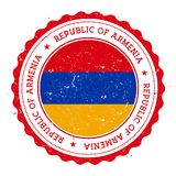Grunge pieczątka z Armenia flaga Fotografia Royalty Free