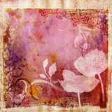 Grunge pink background. Decorative background in grunge style in pink colors Royalty Free Stock Image