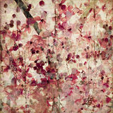 Grunge pink blossom bamboo antique background