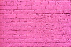 Grunge pink brick wall. As background, texture Royalty Free Stock Image