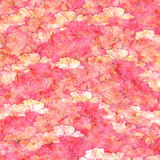 Grunge pink and chalk fluffy flower background. Textured background of grungy red and white flowers vector illustration