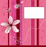 Grunge pink flower background. Abstract background - design elements, with space for your text Vector Illustration