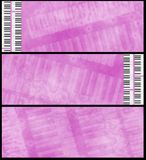 Grunge Pink Fuchsia Musical Headers Stock Photography