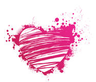 Grunge pink heart Stock Photography