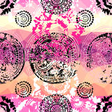 Grunge pink pattern in tie-dye style Stock Images