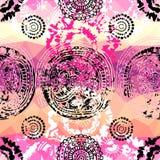 Grunge pink pattern in tie-dye style. Seamless background pattern. Will tile endlessly. Grunge pink pattern in tie-dye style Stock Images