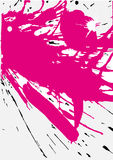 Grunge pink splats. Vector illustration. Elements are grouped separately Royalty Free Stock Images