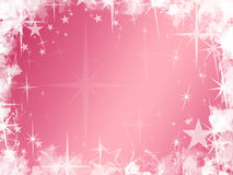 Grunge Pink Star Background Stock Photos