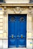 Grunge pintó la puerta del art déco Foto de archivo