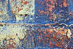 Grunge pintou a parede de tijolo foto de stock royalty free