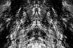 Grunge pionowo symetryczna czarny i biały tekstura Zmrok wietrzejący narzuta wzór obrazy stock