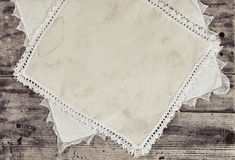 Grunge plank and old cloth Royalty Free Stock Photo