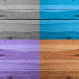 Grunge plank wood texture background. Collage of wooden surfaces. Four different colors Stock Photo