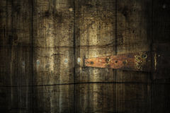 Grunge planks with hinge Royalty Free Stock Photos