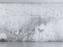 Grunge plaster wall. Interior with grunge plaster wall  with concrete floor Stock Photos