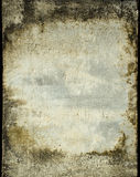 Grunge plaster wall with stained frame Stock Photos