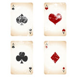 Grunge playing cards Stock Photography