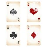 Grunge playing cards stock illustration
