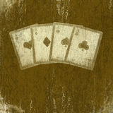 Grunge playing cards. Abstract scratch background. Royalty Free Stock Images