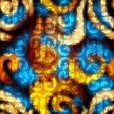 Grunge plemienny wzór na abstrakcjonistycznym tle Zdjęcie Royalty Free