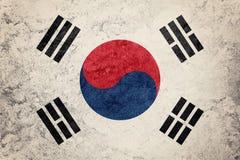 Grunge Południowego Korea flaga Południowego Korea flaga z grunge teksturą Zdjęcia Stock