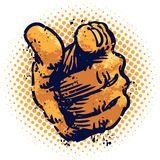 Grunge Pointing finger Stock Image