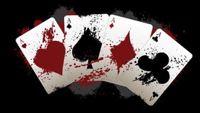 Grunge poker aces Stock Image