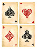 Grunge poker cards. Set. Vector illustration vector illustration