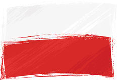 Grunge Poland flag Stock Images