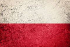 Grunge Poland flag. Poland flag with grunge texture. Royalty Free Stock Photography