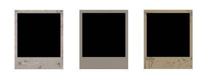 Grunge polaroid frames. For desing Royalty Free Stock Images