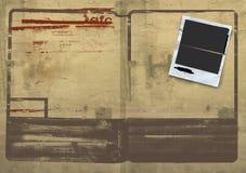 Grunge Polaroid-Verbreitung Lizenzfreie Stockfotos