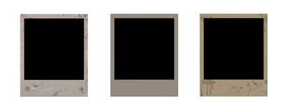 Grunge Polaroidfelder Lizenzfreie Stockbilder