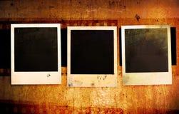 Grunge polaroidfotofelder Stockfotografie