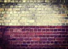 Grunge Polska flaga na ściana z cegieł Obrazy Royalty Free