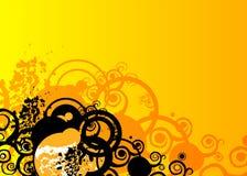 grunge pomarańcze Obraz Royalty Free