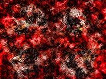 grunge pomarańczowa czerwony royalty ilustracja