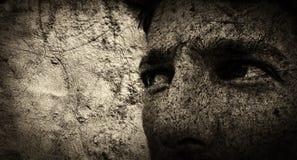Grunge portrait Stock Image