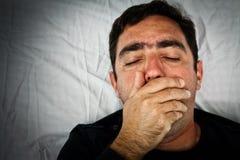 Grunge portrait of a very sick hispanic man Royalty Free Stock Image