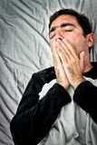 Grunge portrait of a very sick hispanic man Royalty Free Stock Photo