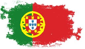 Grunge portugal flag Stock Photography
