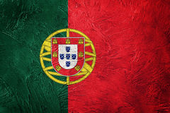 Grunge Portugalia flaga Portugalia flaga z grunge teksturą Obrazy Stock