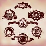 Grunge Porysowane odznaki ilustracja wektor